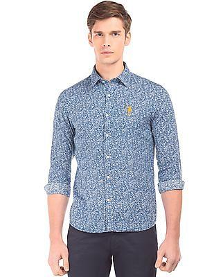 U.S. Polo Assn. Floral Print Linen Cotton Shirt