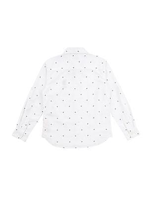 U.S. Polo Assn. Kids Boys Printed Cotton Shirt