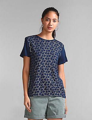 GAP Foil Print Short Sleeve T-Shirt