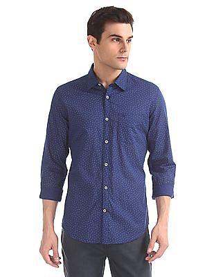 Arvind Modern Slim Fit Printed Shirt