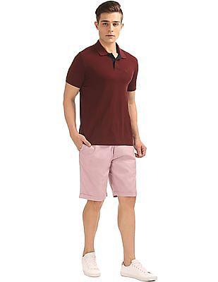 Arrow Sports Patterned Weave Regular Fit Shorts