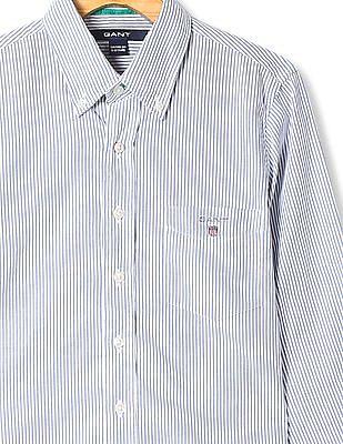 Gant Boys Button Down Collar Stripe Shirt
