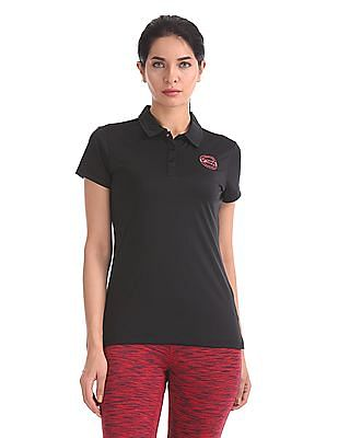 U.S. Polo Assn. Women Short Sleeve Active Polo Shirt