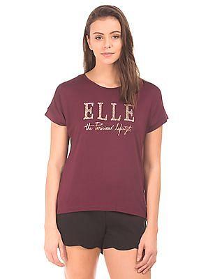 Elle Embellished Front Boxy Top