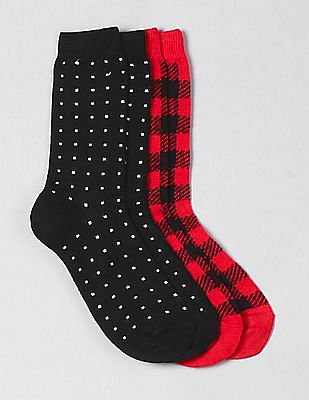 GAP Pattern Crew Socks (2-Pack)