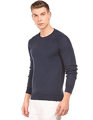Aeropostale Patterned Knit Raglan Sleeve Sweater