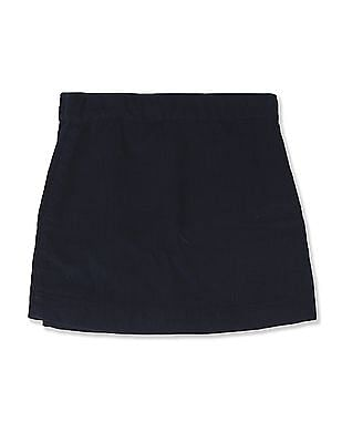 Cherokee Blue Girls Wrap Around Corduroy Skirt