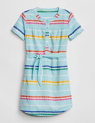 GAP Girls Tie-Belt Shirtdress