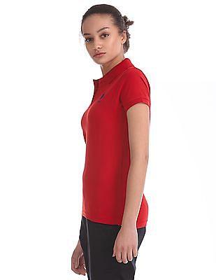 U.S. Polo Assn. Women Solid Pique Polo Shirt