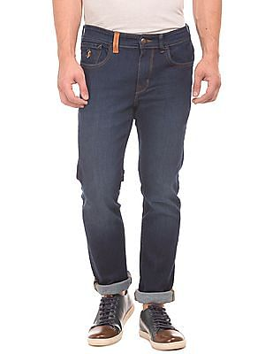 U.S. Polo Assn. Denim Co. Rinse Wash Slim Tapered Fit Jeans