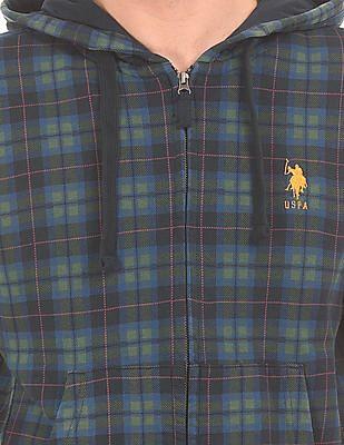 U.S. Polo Assn. Hooded Plaid Sweatshirt