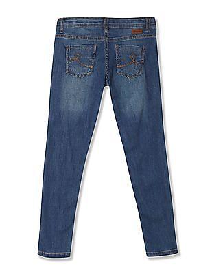 Cherokee Girls Slim Fit Distressed Jeans