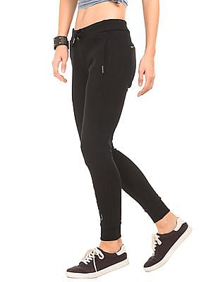 EdHardy Women Solid Regular Fit Joggers