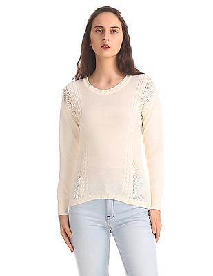 Aeropostale Regular Fit Cable Knit Sweater