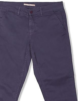 Flying Machine Women Comfort Fit Solid Trousers
