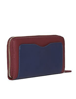 U.S. Polo Assn. Women Colour Blocked Zip Around Wallet