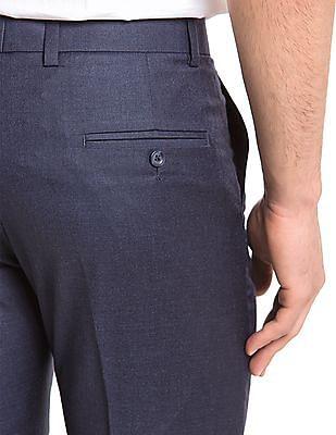 True Blue Mid Rise Slim Fit Trousers