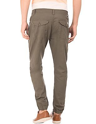 Flying Machine Linen Cotton Jogger Trousers