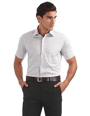 Arrow Short Sleeve Patterned Shirt