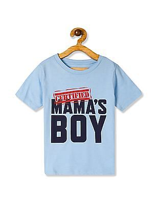 The Children's Place Baby And Toddler Boy Blue Short Sleeve 'Certified Mama's Boy' Graphic Tee
