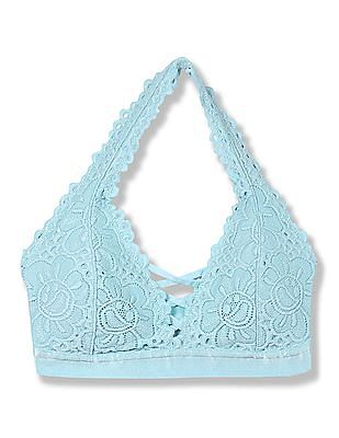Aeropostale Lightly Padded Lace Bralette