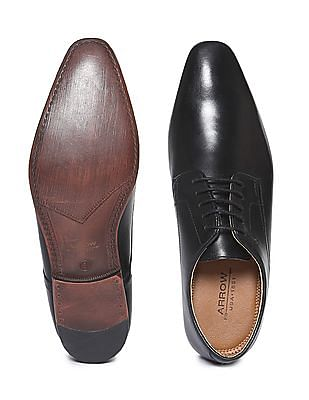 Arrow Solid Leather Derby Shoes