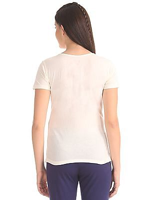 SUGR Raw Edge Solid T-Shirt