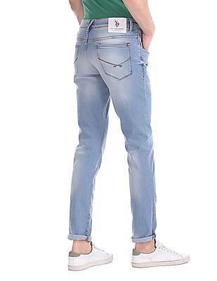 U.S. Polo Assn. Denim Co. Brandon Slim Tapered Fit Stone Wash Jeans
