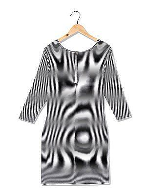 U.S. Polo Assn. Women Round Neck Striped Sheath Dress