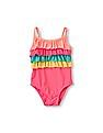 The Children's Place Toddler Girl Ruffle Bodice One-Piece Swimsuit