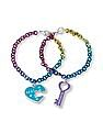 The Children's Place Girls 'Best' Heart And 'Friends' Key Charm Bracelet Set