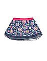 Donuts Girls Floral Print Flared Skirt