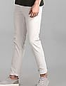 GAP White Slim Fit Solid Trousers