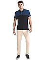 Arrow Sports Regular Fit Colour Blocked Chest Polo Shirt