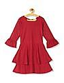 Cherokee Girls Lace Bell Sleeve Fit And Flare Dress