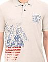 U.S. Polo Assn. Denim Co. Printed Muscle Fit Polo Shirt