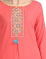 Karigari Embroidered Yoke Straight Kurta