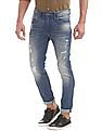 Flying Machine Slim Tapered Fit Distressed Jeans