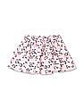 Donuts Pink Girls Floral Print Layered Skirt