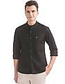 Arrow Sports Slim Fit Mandarin Collar Shirt
