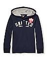 The Children's Place Boys Blue Long Sleeve 'United Sports League' Graphic Pullover Rugby Hoodie