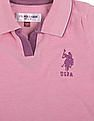 U.S. Polo Assn. Kids Girls Regular Fit Sleeveless Polo Shirt