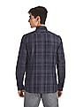Arrow Newyork Blue Button Down Collar Check Shirt