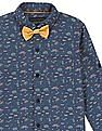 Cherokee Boys Printed Shirt With Bow Tie