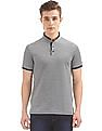 Arrow Sports Two Tone Mandarin Neck Polo Shirt