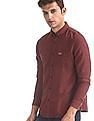 U.S. Polo Assn. Denim Co. Red Button Down Patterned Weave Shirt