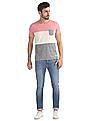 Flying Machine Slim Fit Colour Block T-Shirt