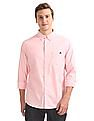 Aeropostale Button Down Collar Solid Shirt