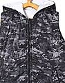 Cherokee Grey And White Boys Quilted Reversible Jacket