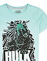 Colt Boys Hulk Print Cotton T-Shirt